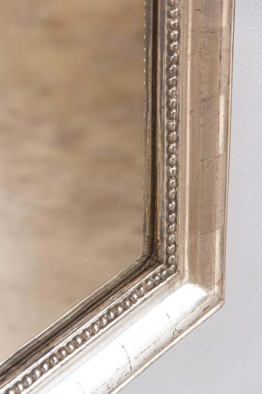 Antique French Louis Philippe Silver Gilt Mirror, 19th Century For Sale 3