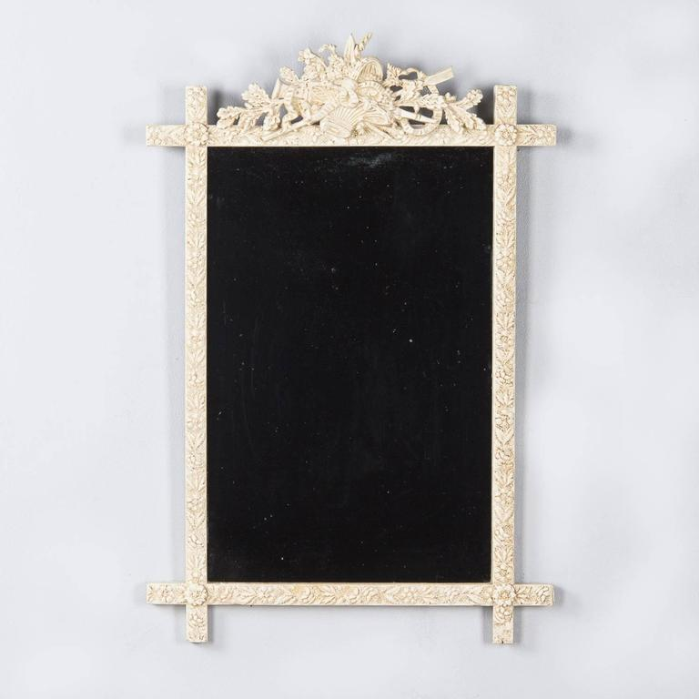 French Louis XVI Style Painted Mirror, Late 1800s For Sale 5