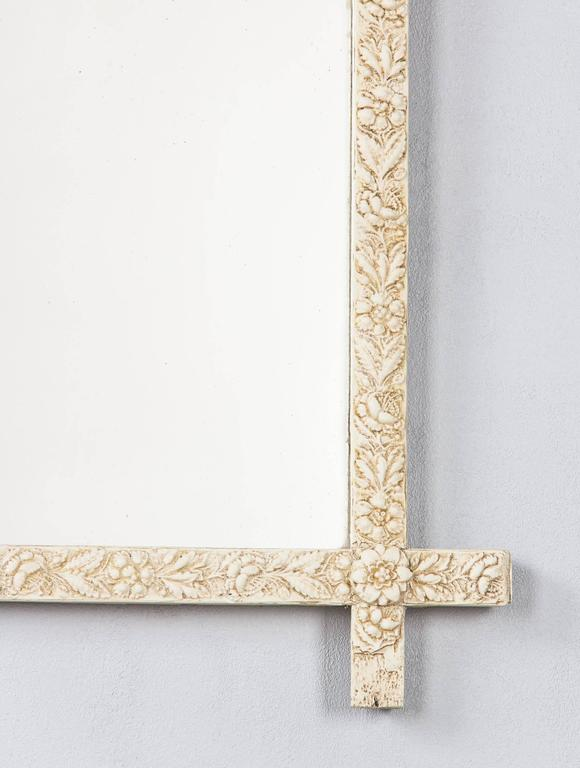 French Louis XVI Style Painted Mirror, Late 1800s For Sale 2