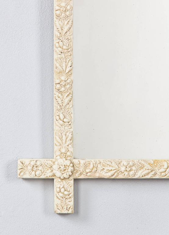 French Louis XVI Style Painted Mirror, Late 1800s For Sale 3
