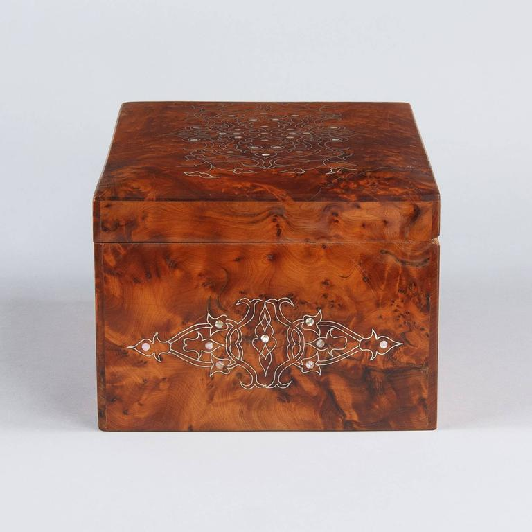 French Charles X Marquetry Jewelry Box, 1820s 8