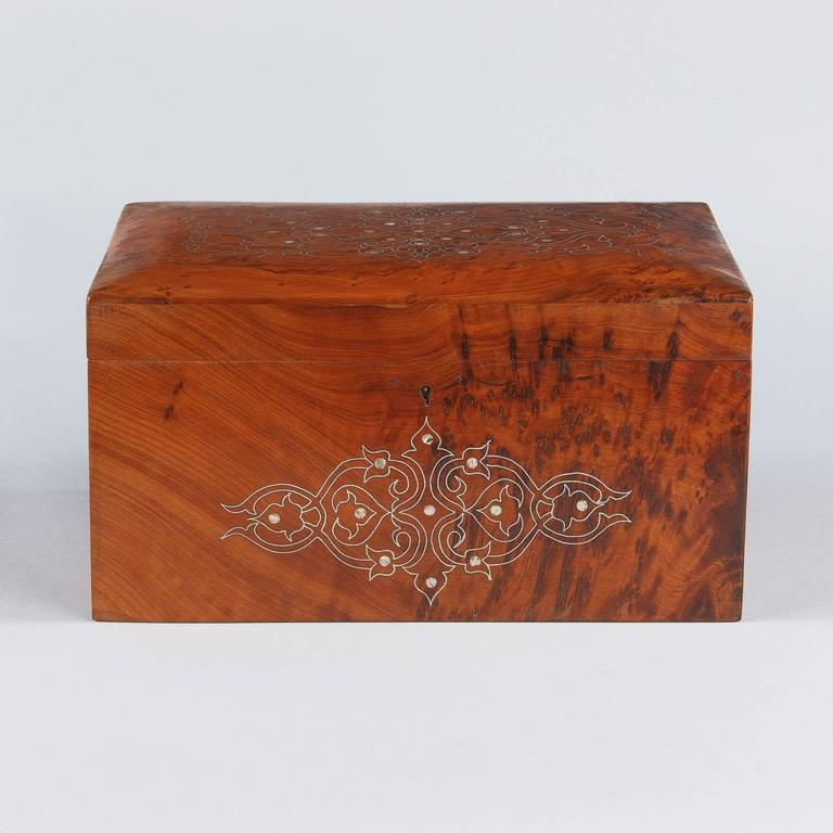 French Charles X Marquetry Jewelry Box, 1820s 2