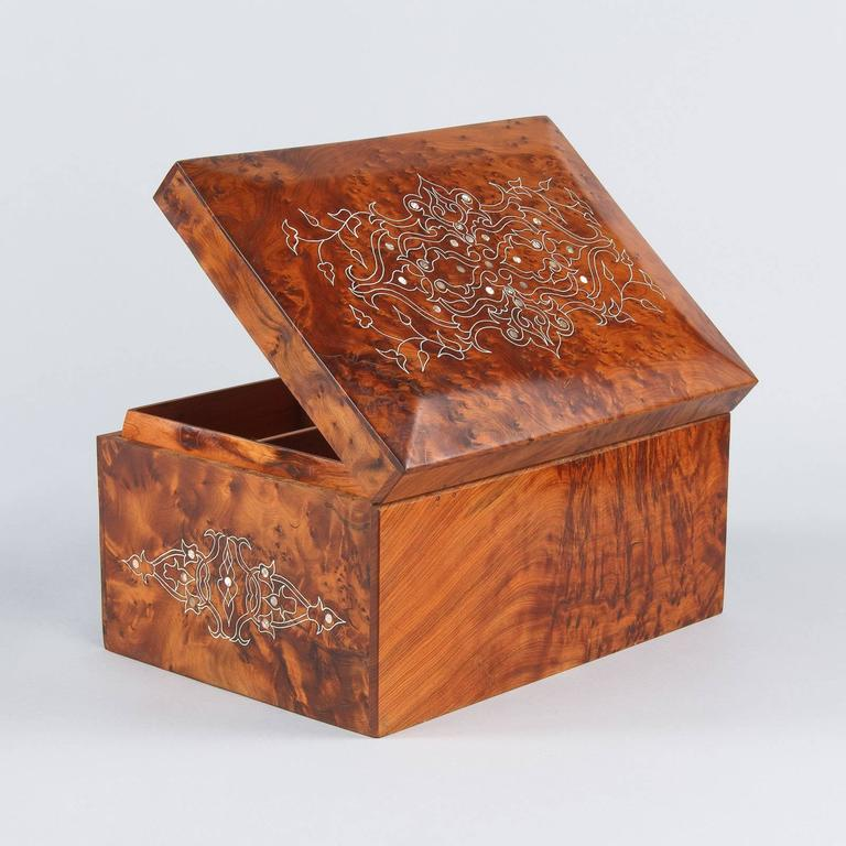 French Charles X Marquetry Jewelry Box, 1820s 5