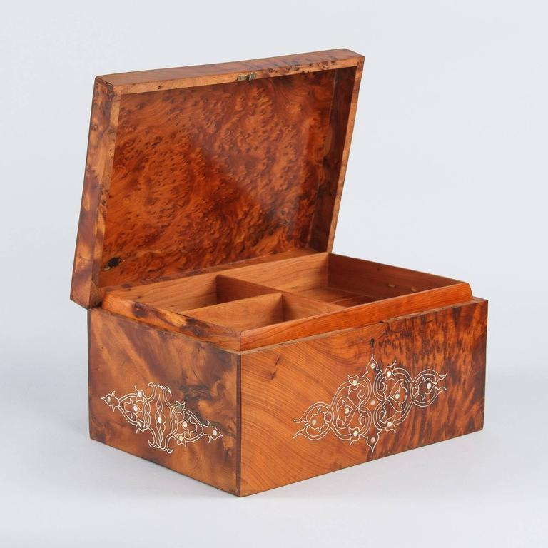 French Charles X Marquetry Jewelry Box, 1820s 4