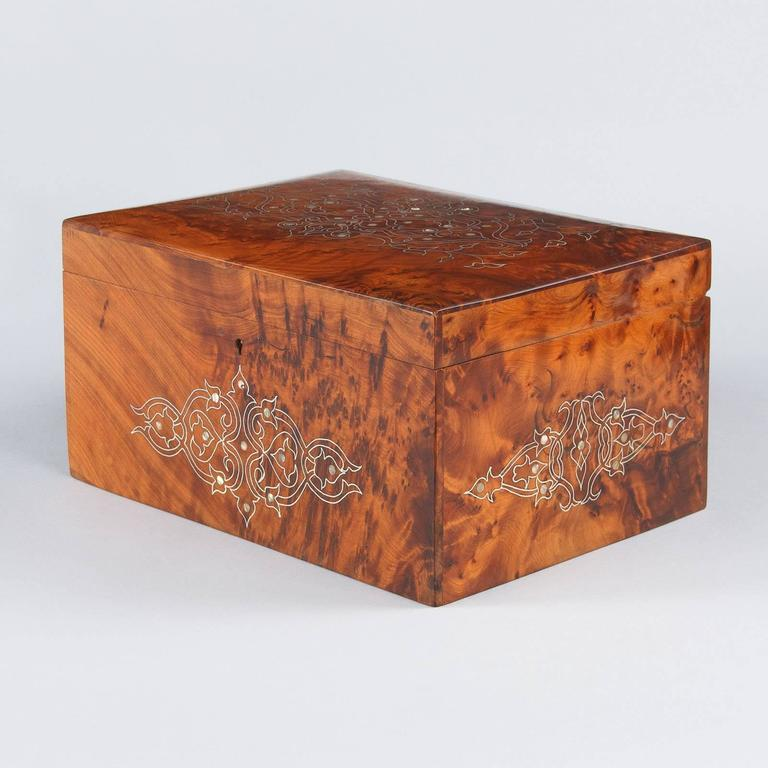 French Charles X Marquetry Jewelry Box, 1820s 9