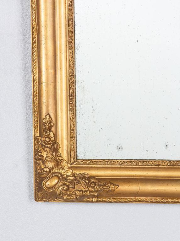 French Napoleon III Giltwood Mirror, circa 1870s For Sale 2