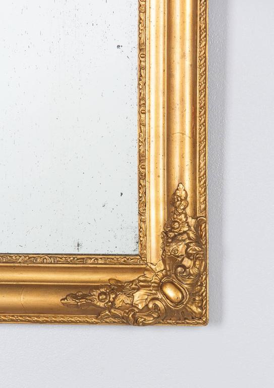 French Napoleon III Giltwood Mirror, circa 1870s For Sale 1