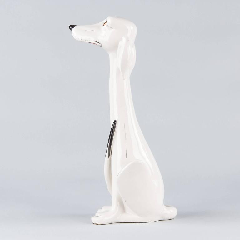 French Ceramic Dog Figurine, 1960s For Sale 2