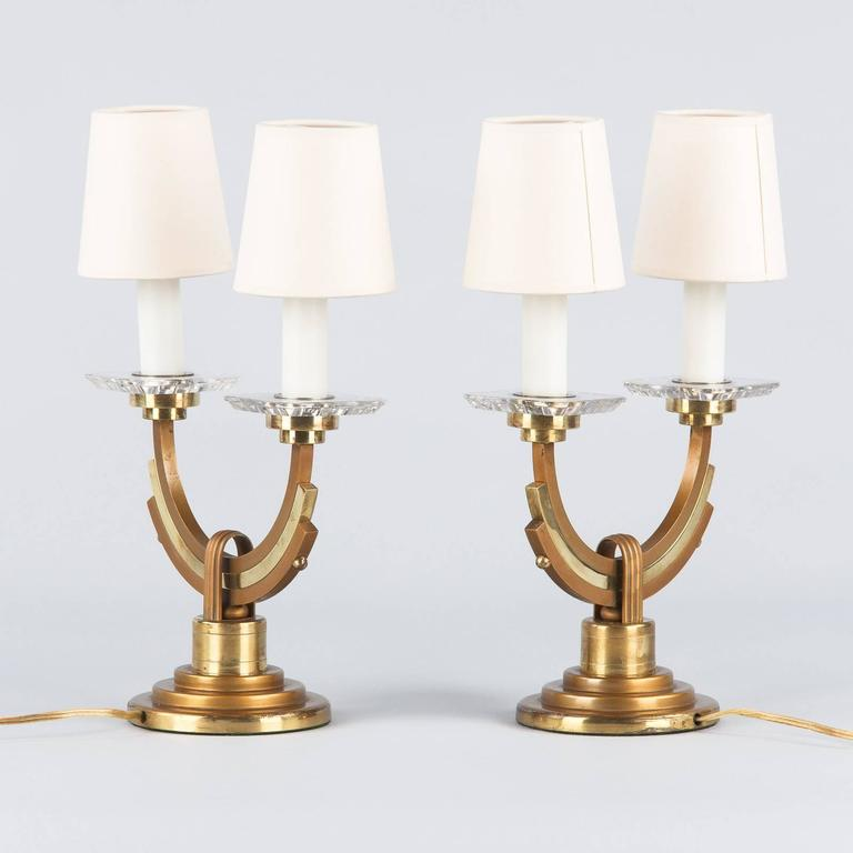 Pair of French Art Deco Lamps, 1930s 4