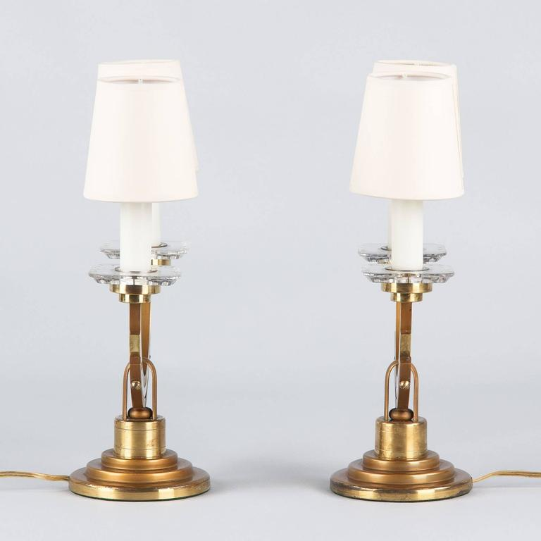 Pair of French Art Deco Lamps, 1930s 5