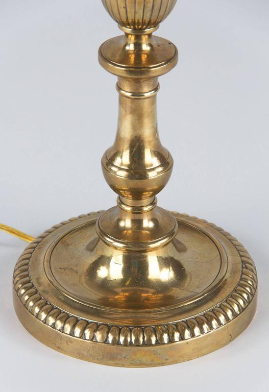 Louis XVI Style Brass Table Lamp, Early 1900s 5