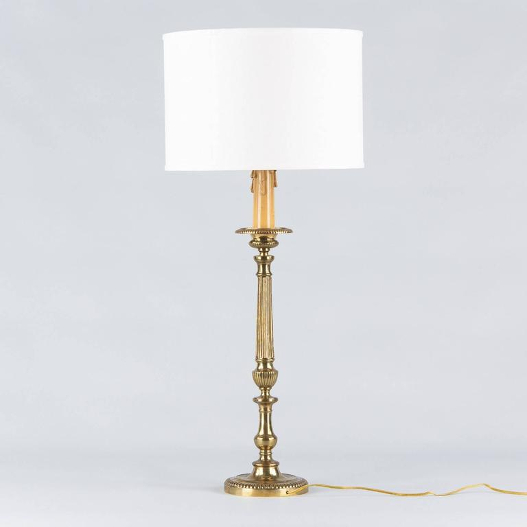 Louis XVI Style Brass Table Lamp, Early 1900s 7