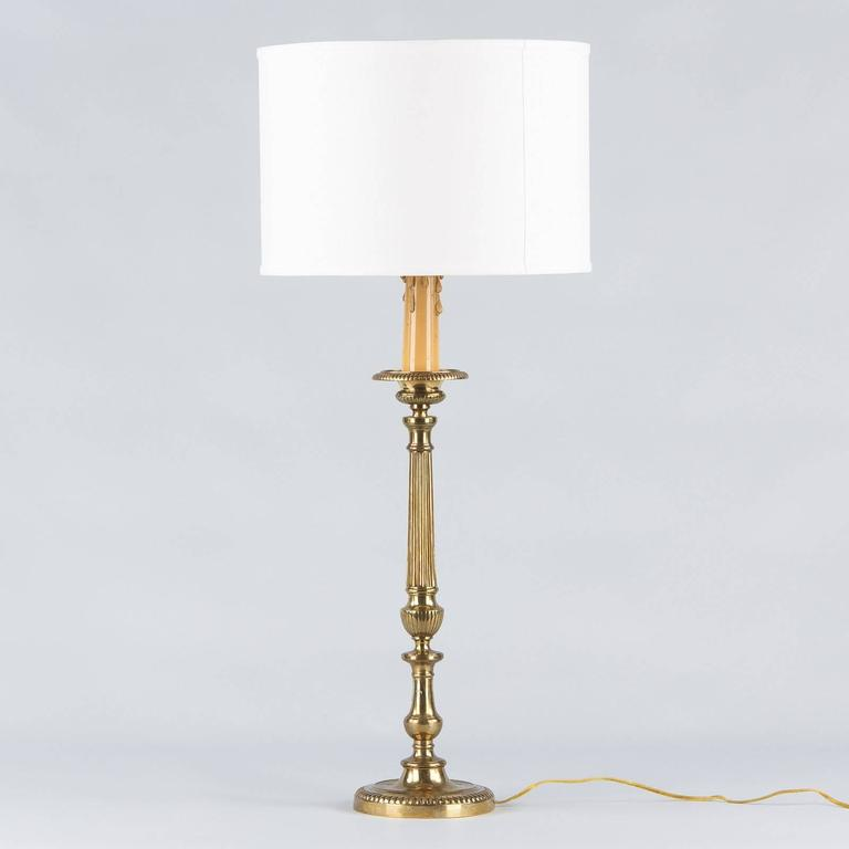 Louis XVI Style Brass Table Lamp, Early 1900s 8