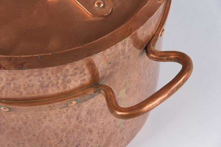 French Copper Cauldron, 19th Century For Sale 5
