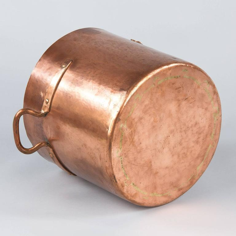 French Copper Cauldron, 19th Century For Sale 7