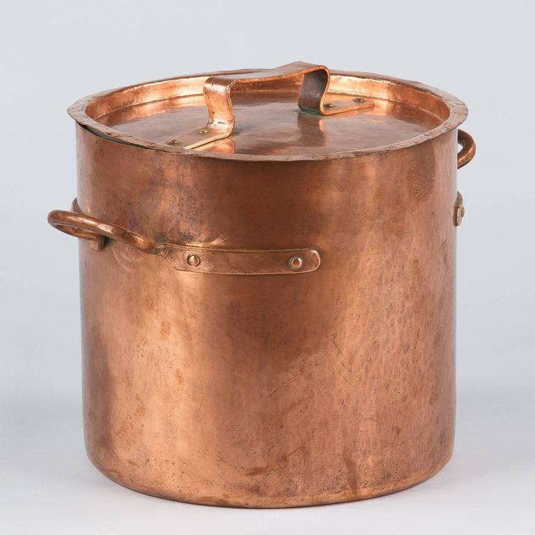 French Copper Cauldron, 19th Century For Sale 2