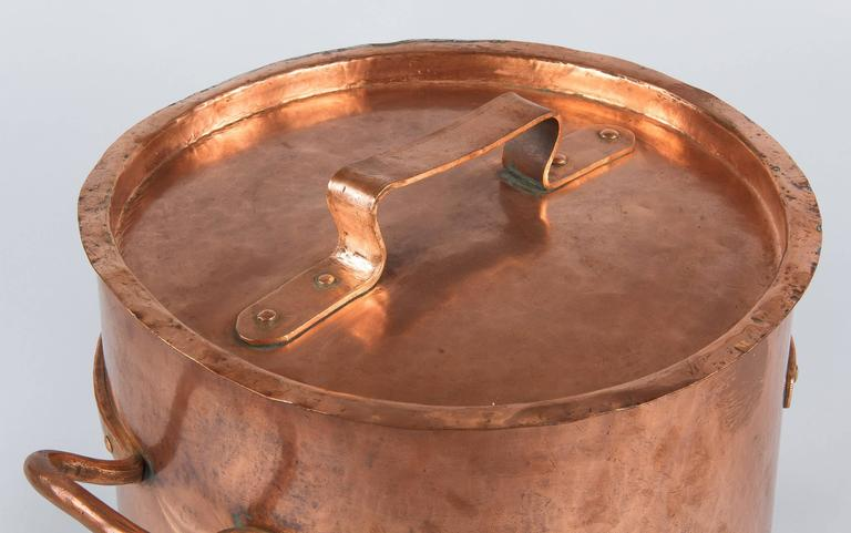 French Copper Cauldron, 19th Century For Sale 3