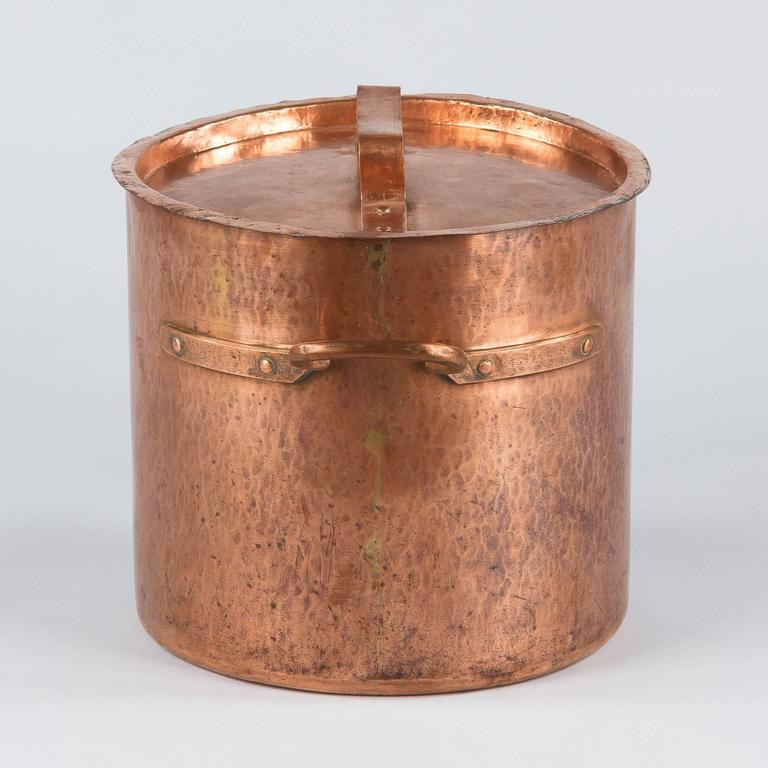 French Copper Cauldron, 19th Century For Sale 6