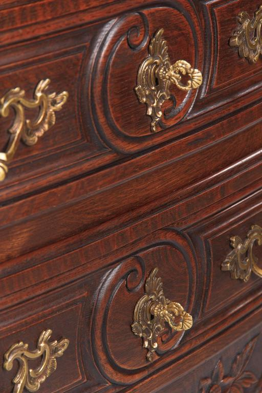 Louis XV Provençal Style Oak Chest of Drawers, Early 1900s 5