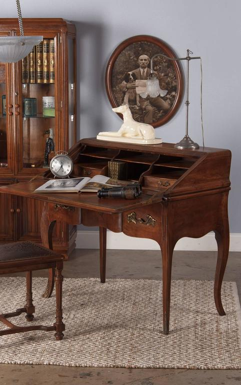Louis XV Style Walnut Drop-Front Secretaire/Desk, 1920s 2