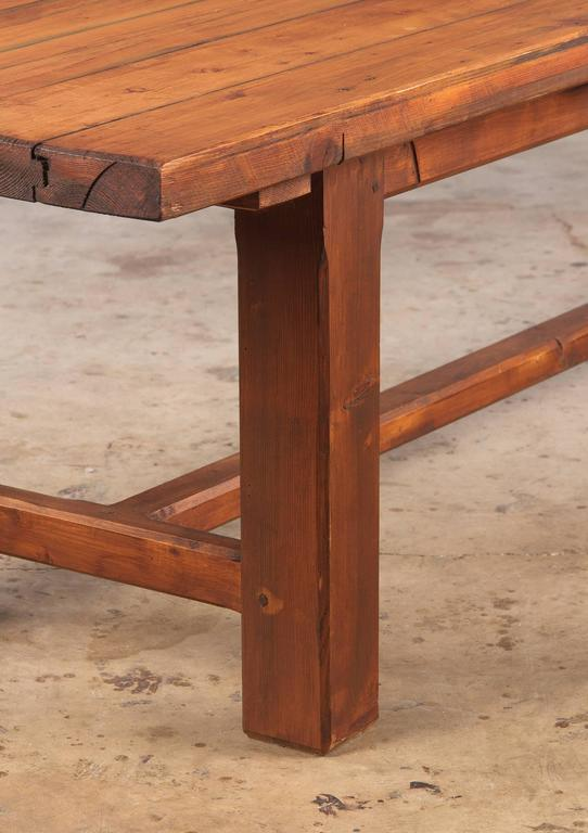 French Country Pine Long Farm Table, Early 1900s 6