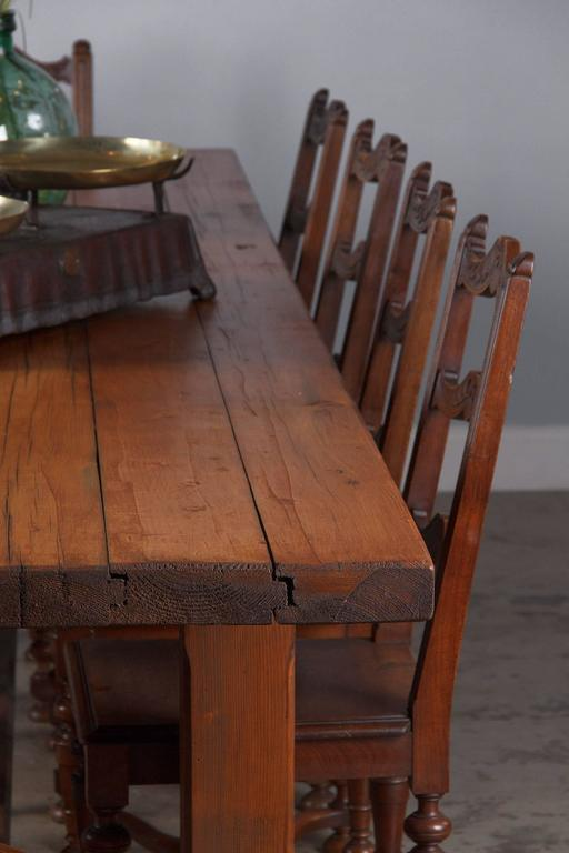 French Country Pine Long Farm Table, Early 1900s 10