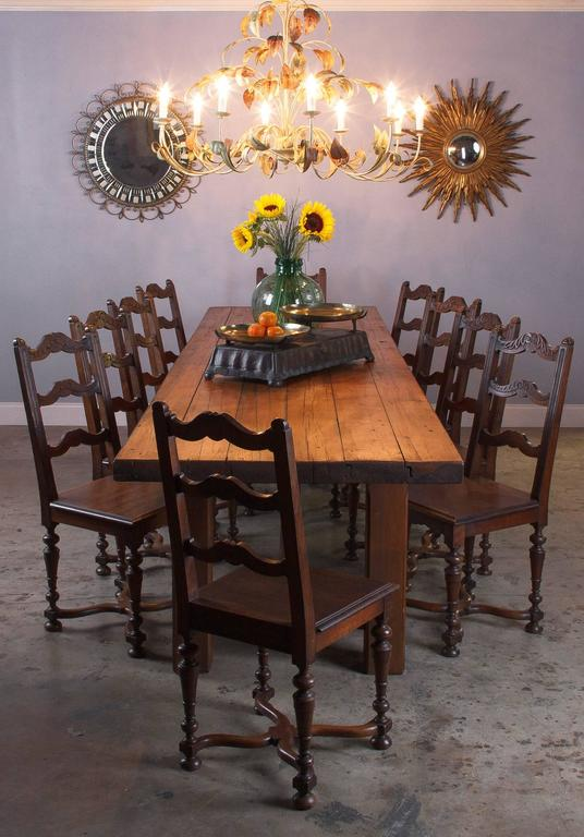 French Country Pine Long Farm Table Early 1900s At 1stdibs