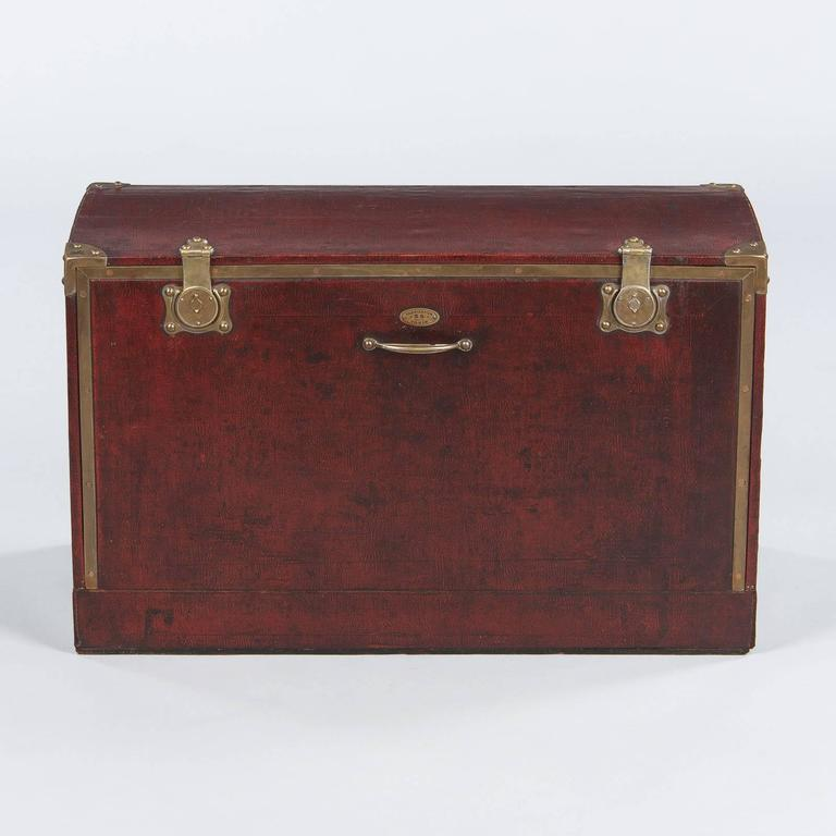 Antique French Automobile Trunk, circa 1900s 5