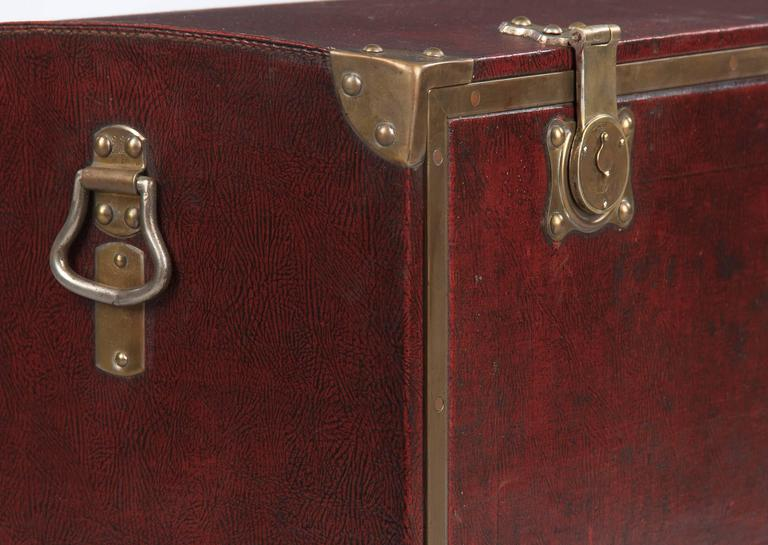 Antique French Automobile Trunk, circa 1900s 8