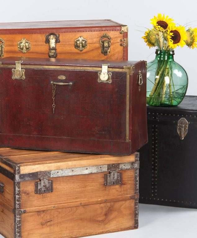 Antique French Automobile Trunk, circa 1900s 2