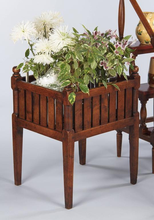19th Century French Walnut Planter Jardiniere For Sale 6
