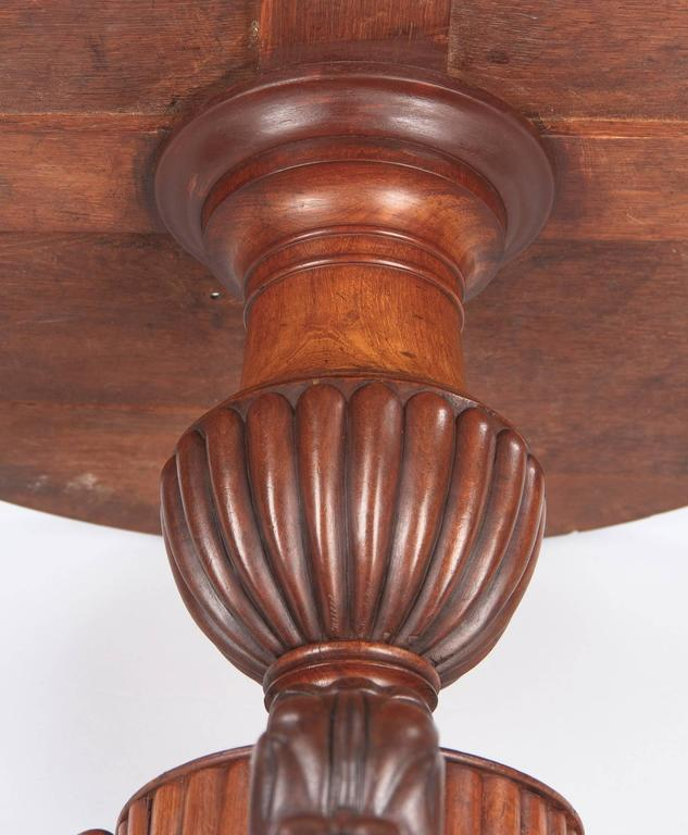 French Napoleon III Marble Top Pedestal Table, 1870s 8