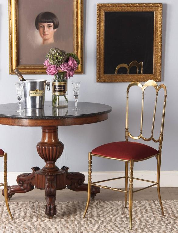 French Napoleon III Marble Top Pedestal Table, 1870s 10