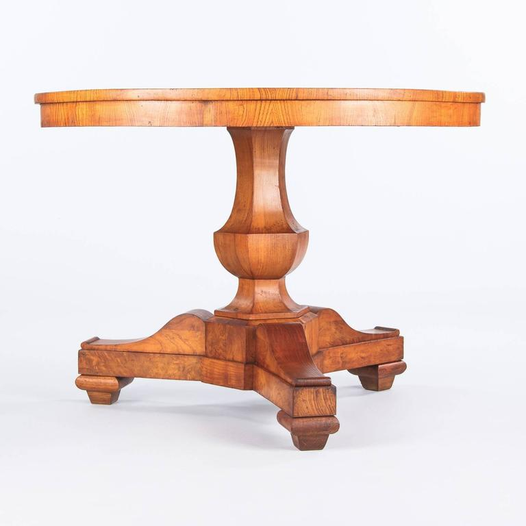 French Charles X Period Ashwood Pedestal Table, Early 1800s For Sale 5