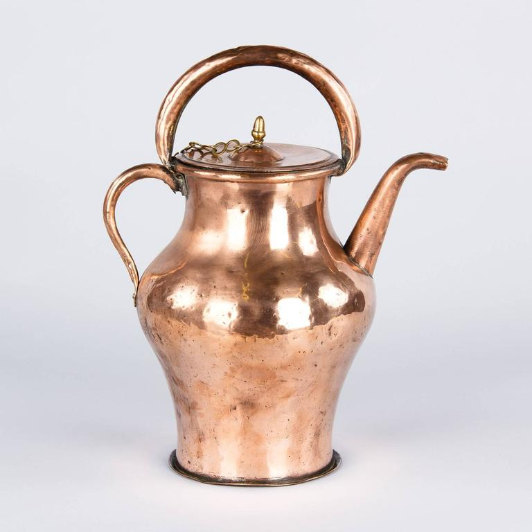 19th Century French Copper Ewer Pitcher For Sale 2