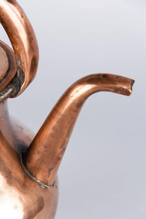 19th Century French Copper Ewer Pitcher 9