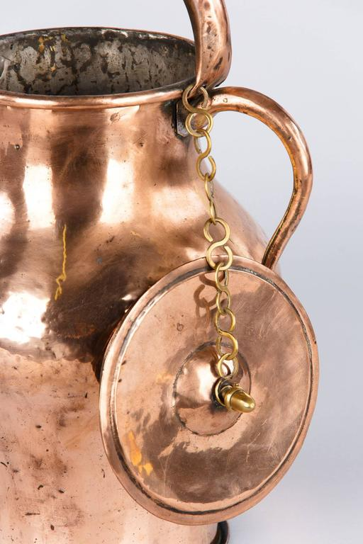 Brass 19th Century French Copper Ewer Pitcher For Sale