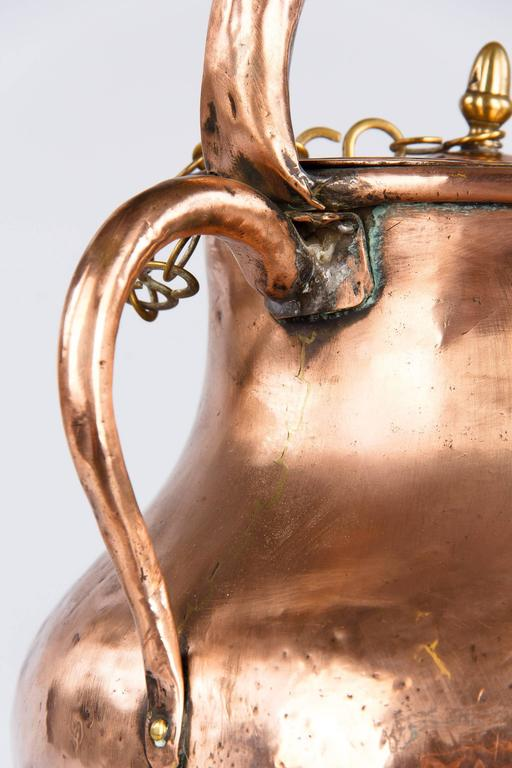 19th Century French Copper Ewer Pitcher For Sale 6