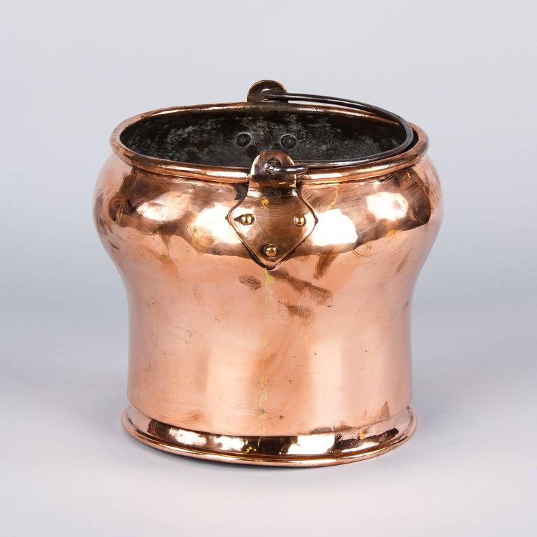 French 19th Century Copper Bucket 4