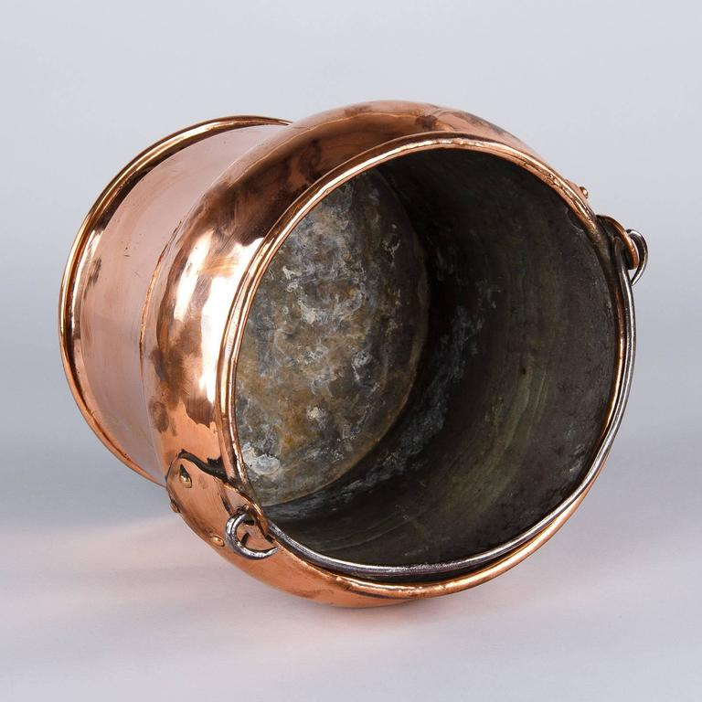 French 19th Century Copper Bucket 9