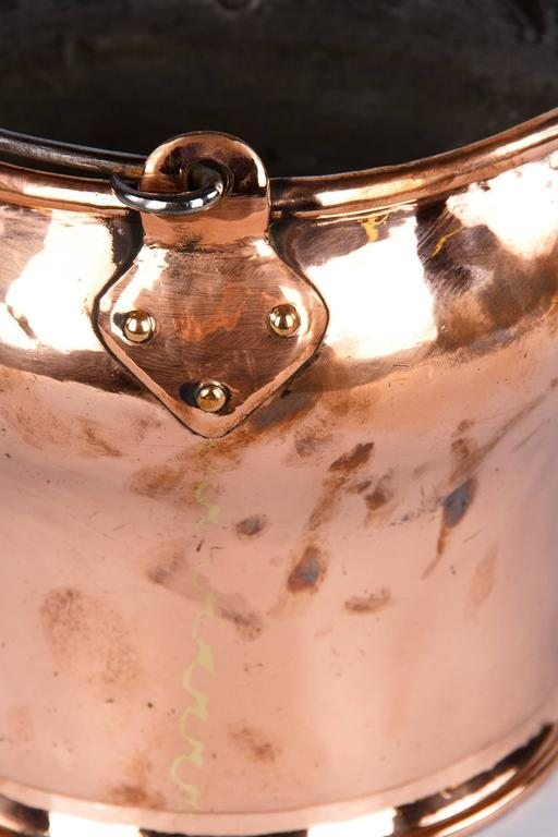 French 19th Century Copper Bucket 5