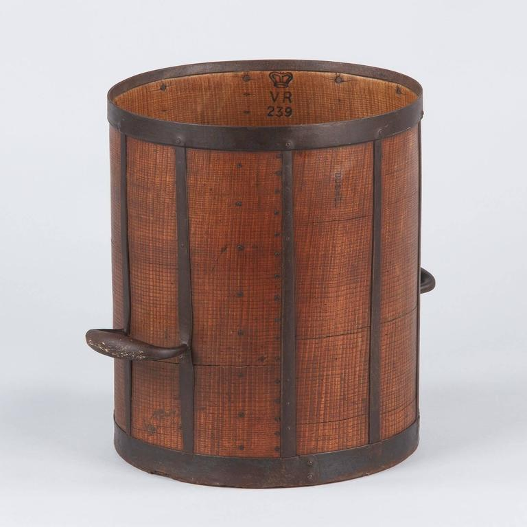 19th Century French Oak Grain Measure 7