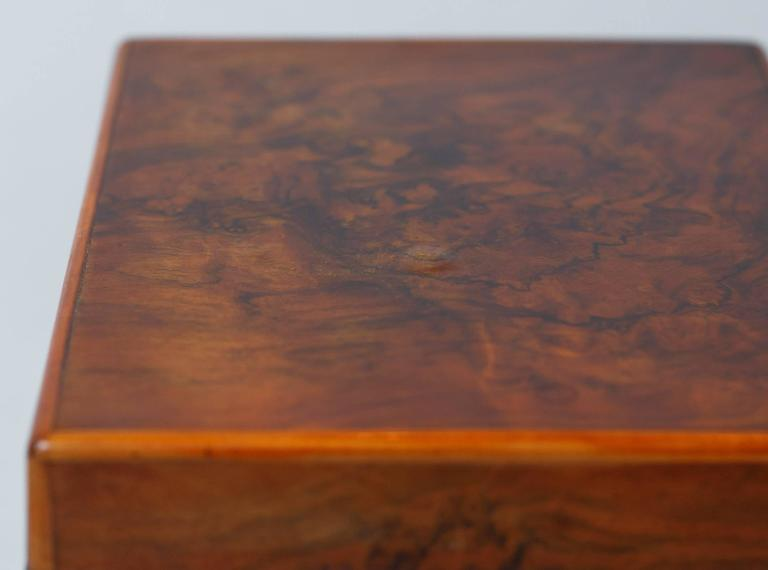 French Walnut Jewelry Box, Early 1900s For Sale 3