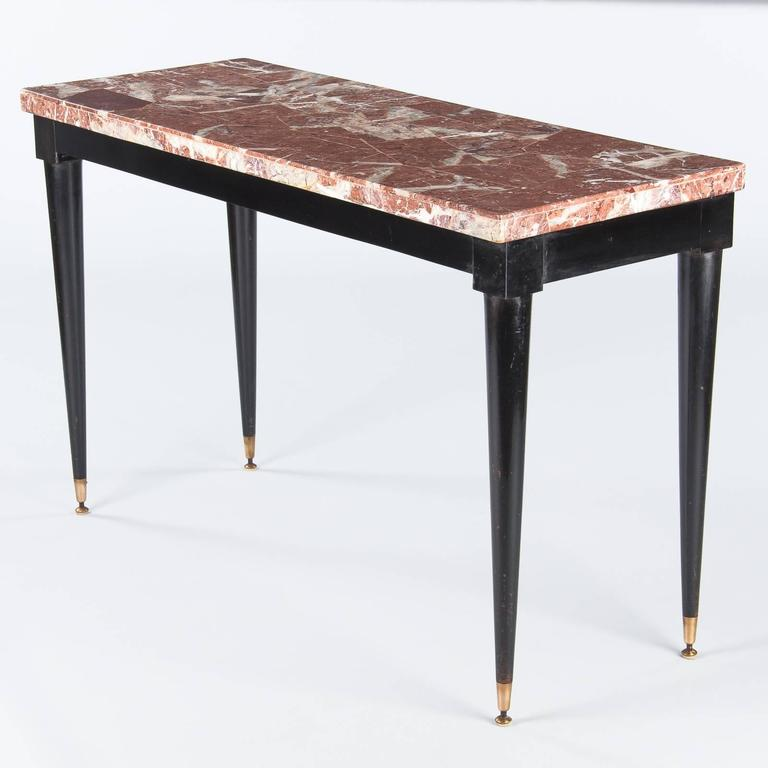 Mid-Century Italian Marble Top Console Table, 1950s For Sale 2