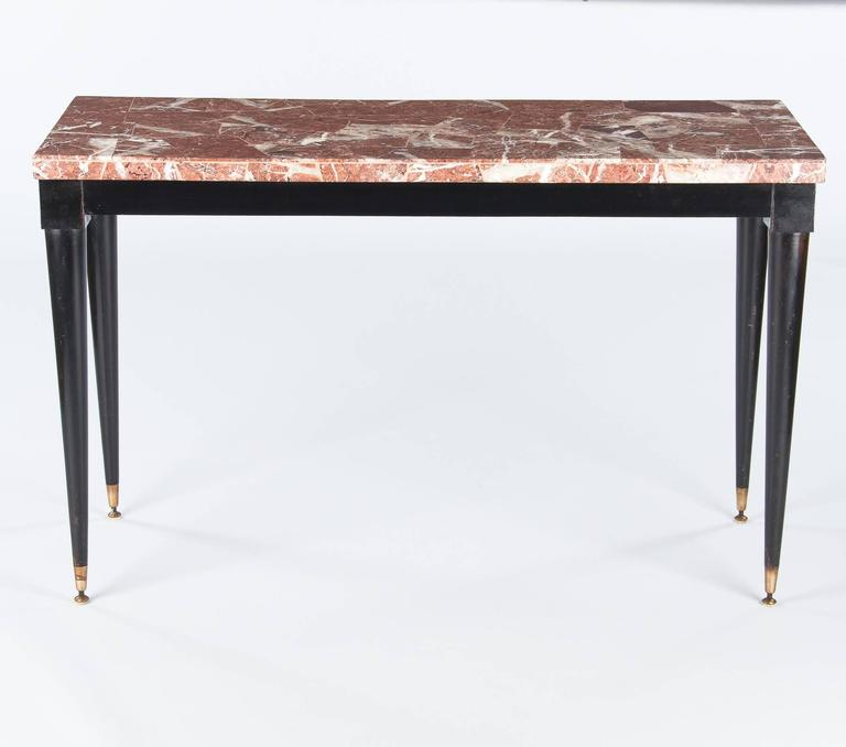 Mid-Century Modern Mid-Century Italian Marble Top Console Table, 1950s For Sale