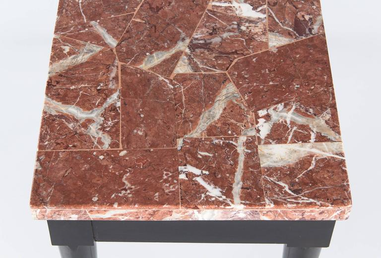 Mid-Century Italian Marble Top Console Table, 1950s In Good Condition For Sale In Austin, TX