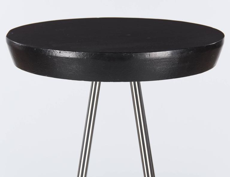 Industrial French Chrome Base Round