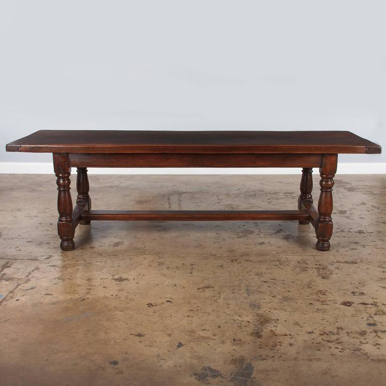 19th Century French Oak Farm Table For Sale 6