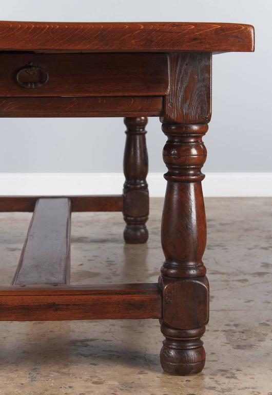 19th Century French Oak Farm Table For Sale 1