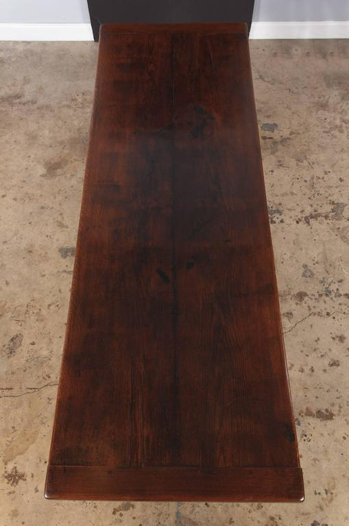 Country 19th Century French Oak Farm Table For Sale